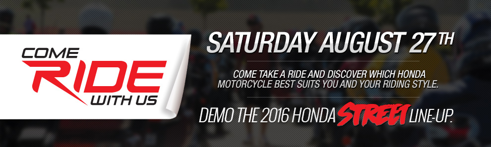 come ride with us 2016